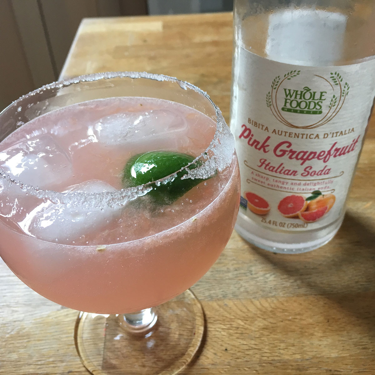 Whole Foods Market Pink Grapefruit Sparkling Italian Soda